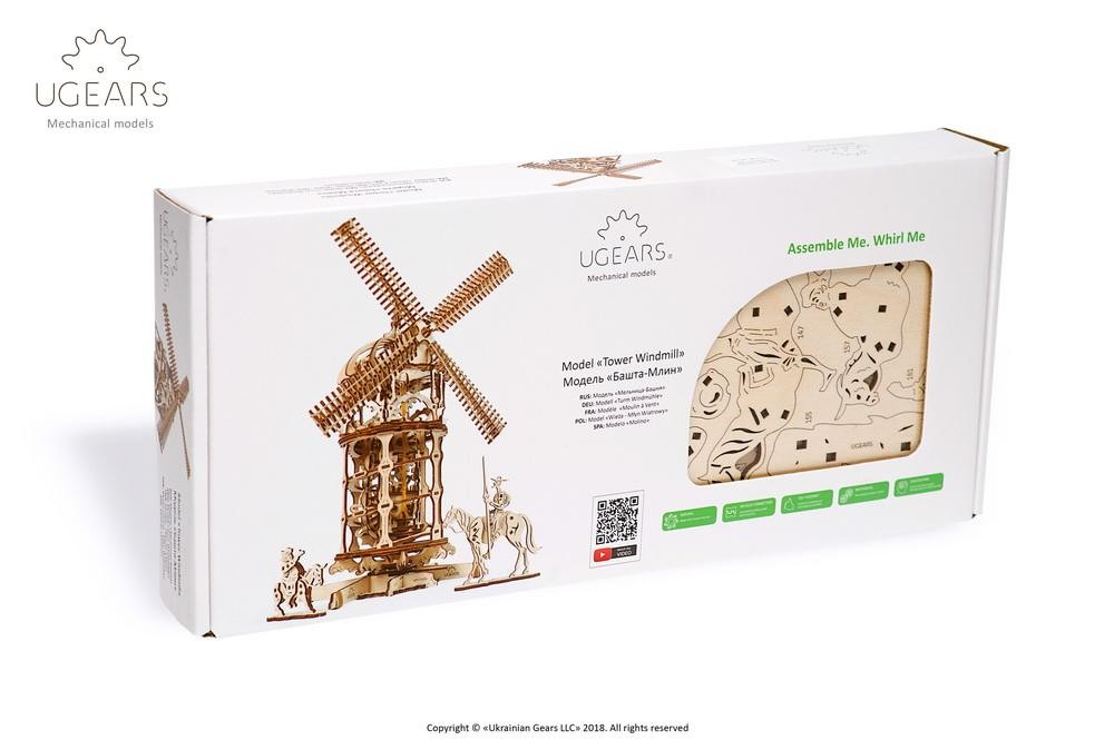 ugears Tower Windmill box