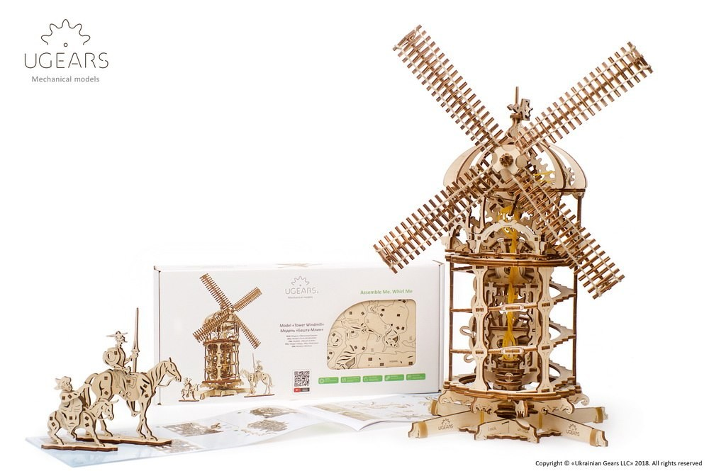 ugears югирс башня ветряная мельница