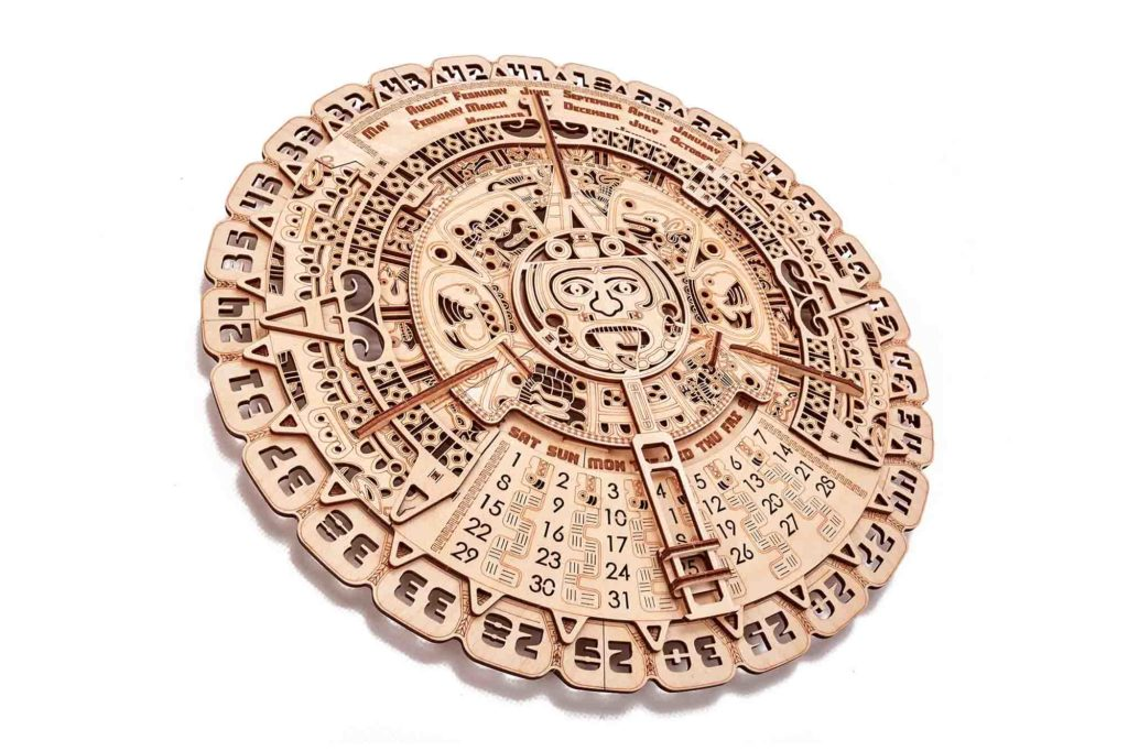 Wood Trick Mayan Calendar