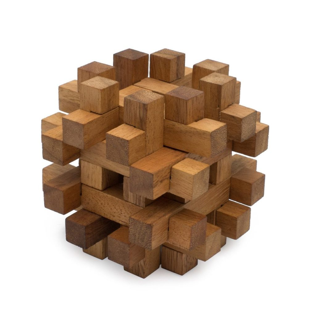 SiamMandalay Double lock-a-ball Holzpuzzle