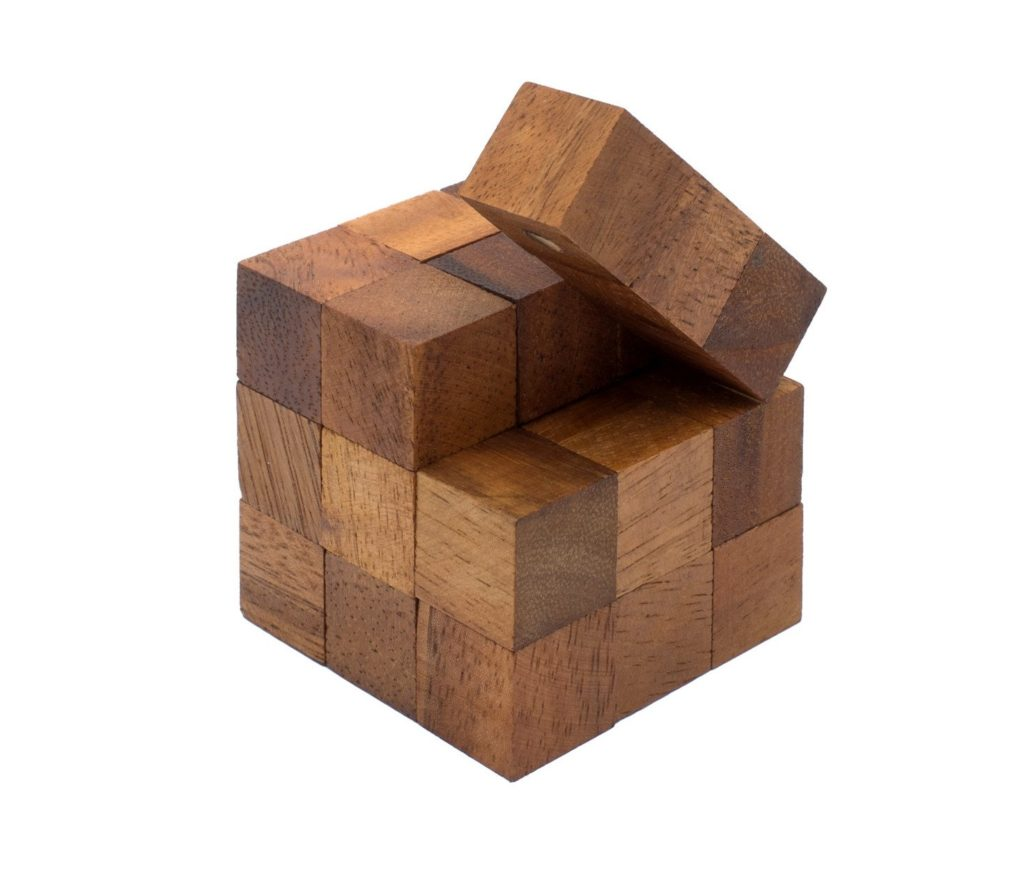 SiamMandalay Snake Cube Wooden puzzle
