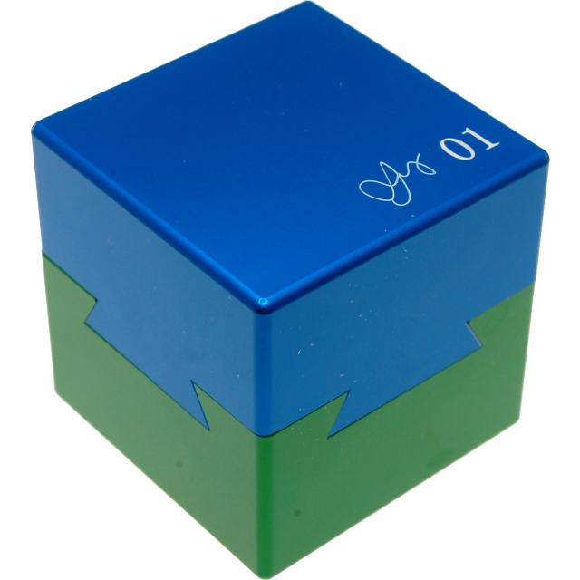 Wil Strijbos Dovetail Cube 1 Metal Puzzle