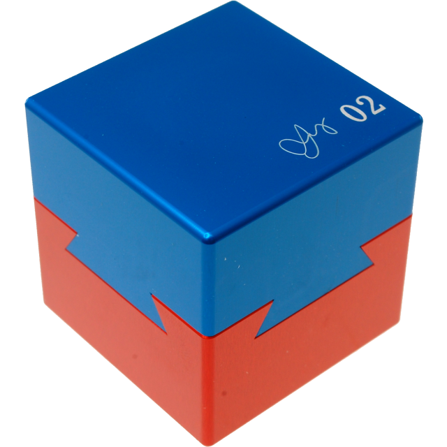 Wil Strijbos Dovetail Cube 2 Metal Puzzle