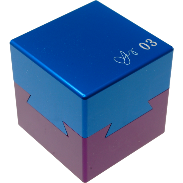 Wil Strijbos Dovetail Cube 3 Metal Puzzle