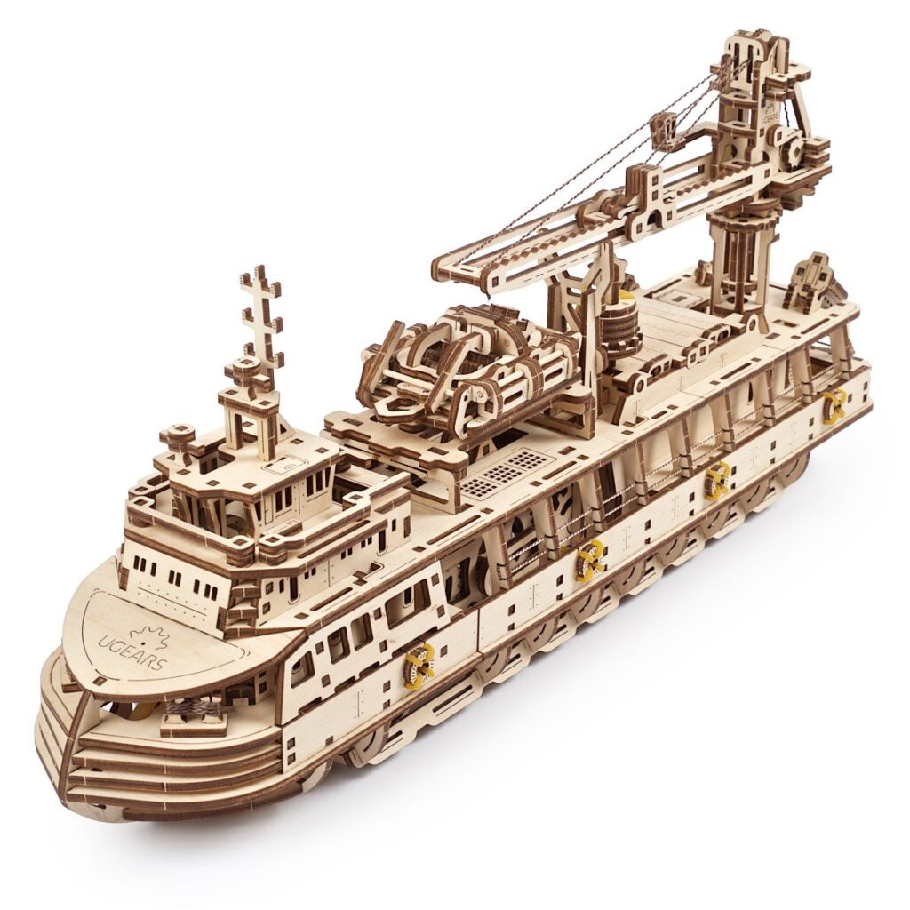 UGears Research Vessel Model Wooden 3D Puzzle