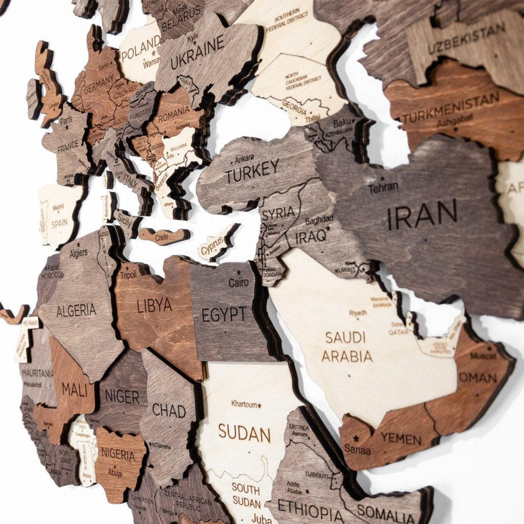 3d wooden map puzzle