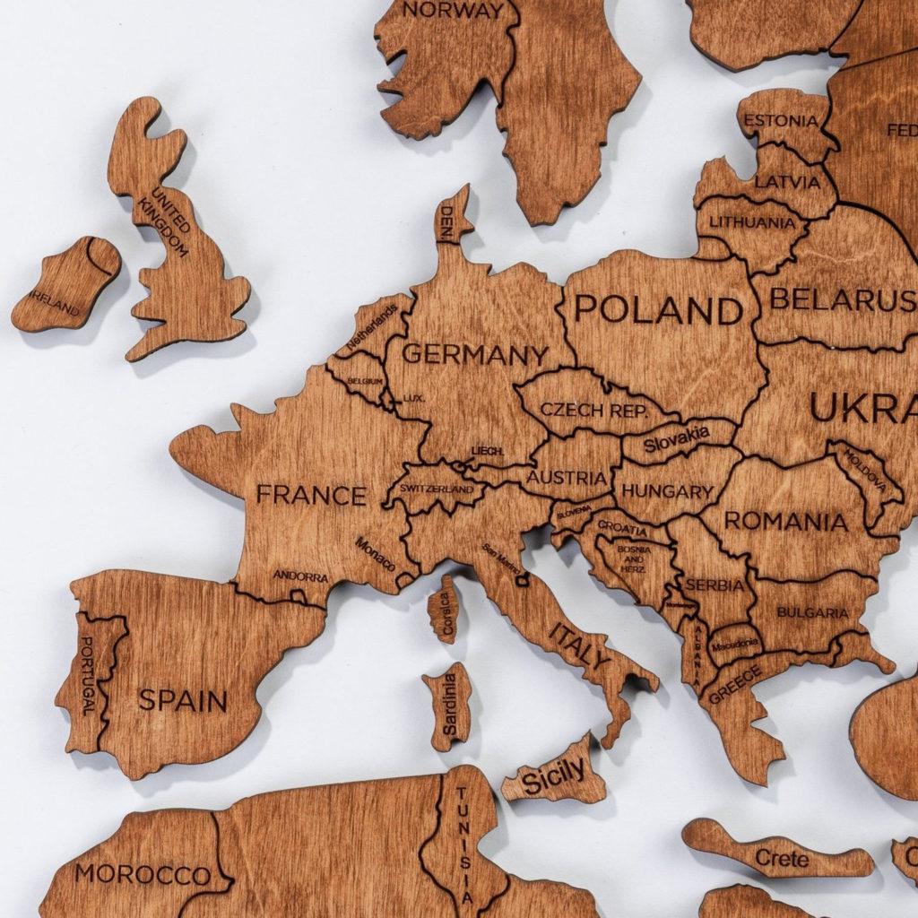 2d wooden map puzzle