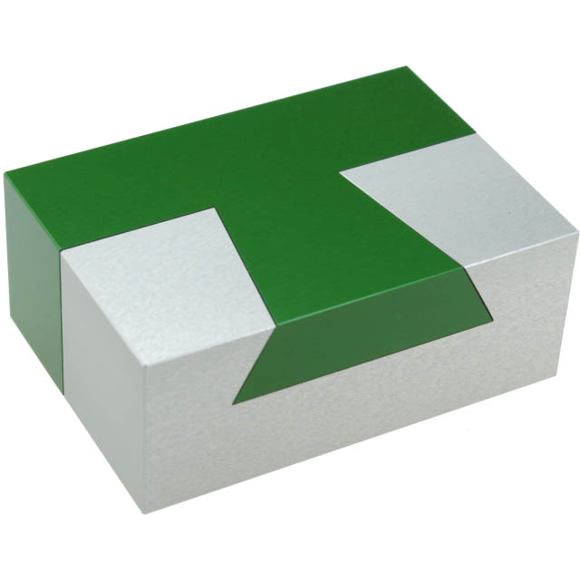 Aluminum Dovetail T Metal Puzzle by Wil Strijbos