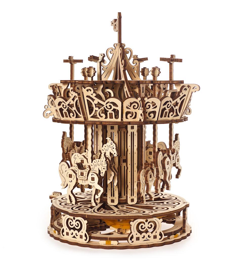 Ugears Carousel Mechanical 3D wooden modell
