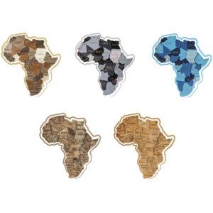 Wooden 3D map puzzle