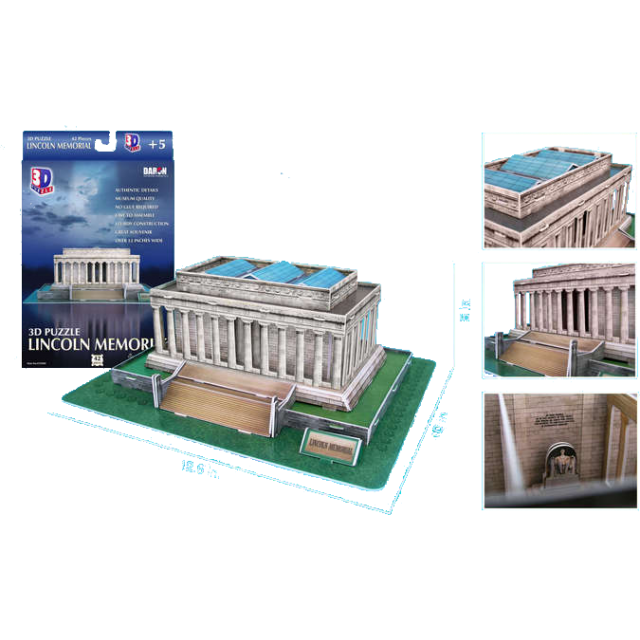 Lincoln Memorial 3D Jigsaw Puzzle