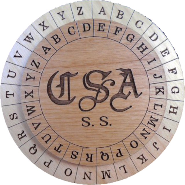 Confederate Army Cipher Disk Puzzle