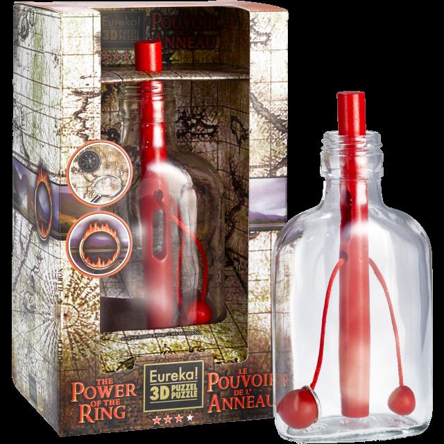 Holzpuzzle in der Flasche von Wil Strijbos Power of the Ring