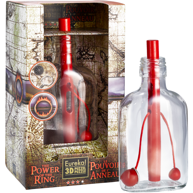 Wil Strijbos Power of the Ring Wooden Puzzle in Bottle