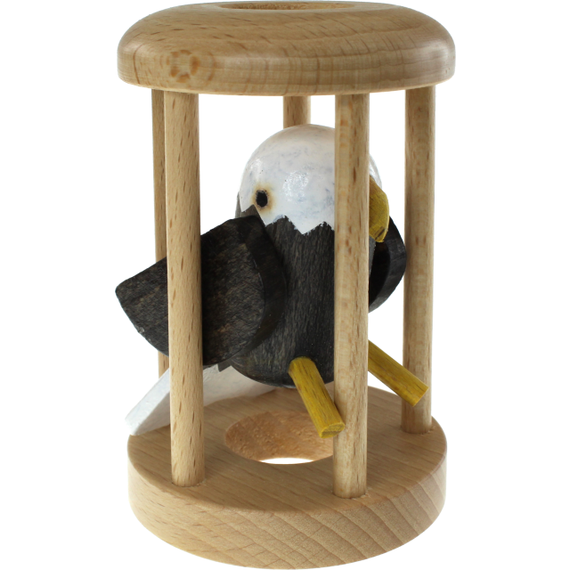 American Eagle in a Cage Wooden Puzzle
