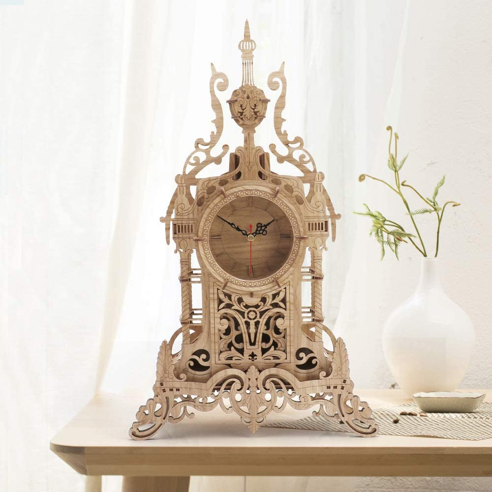 Amy & Benton Tower Desk Clock Wooden 3D Puzzle DIY