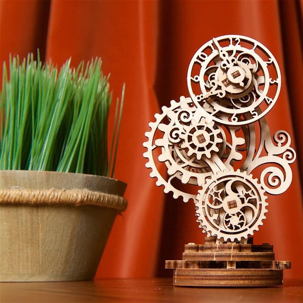 Ugears Steampunk Clock 3d wooden puzzle instructions