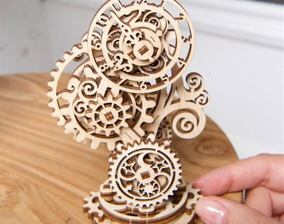 Steampunk Clock 3d wooden puzzle by ugears