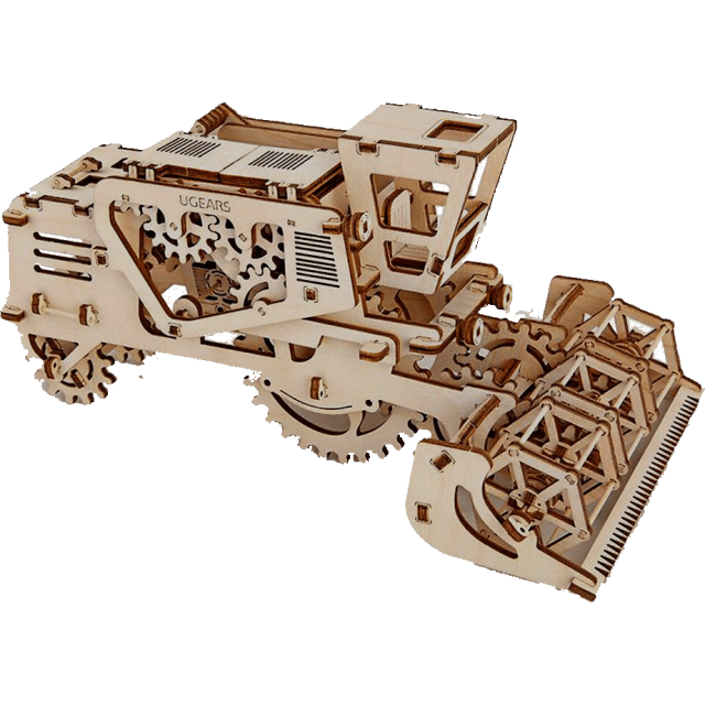 Mechanical Model by Ugears Combine Harvester wooden 3d puzzle