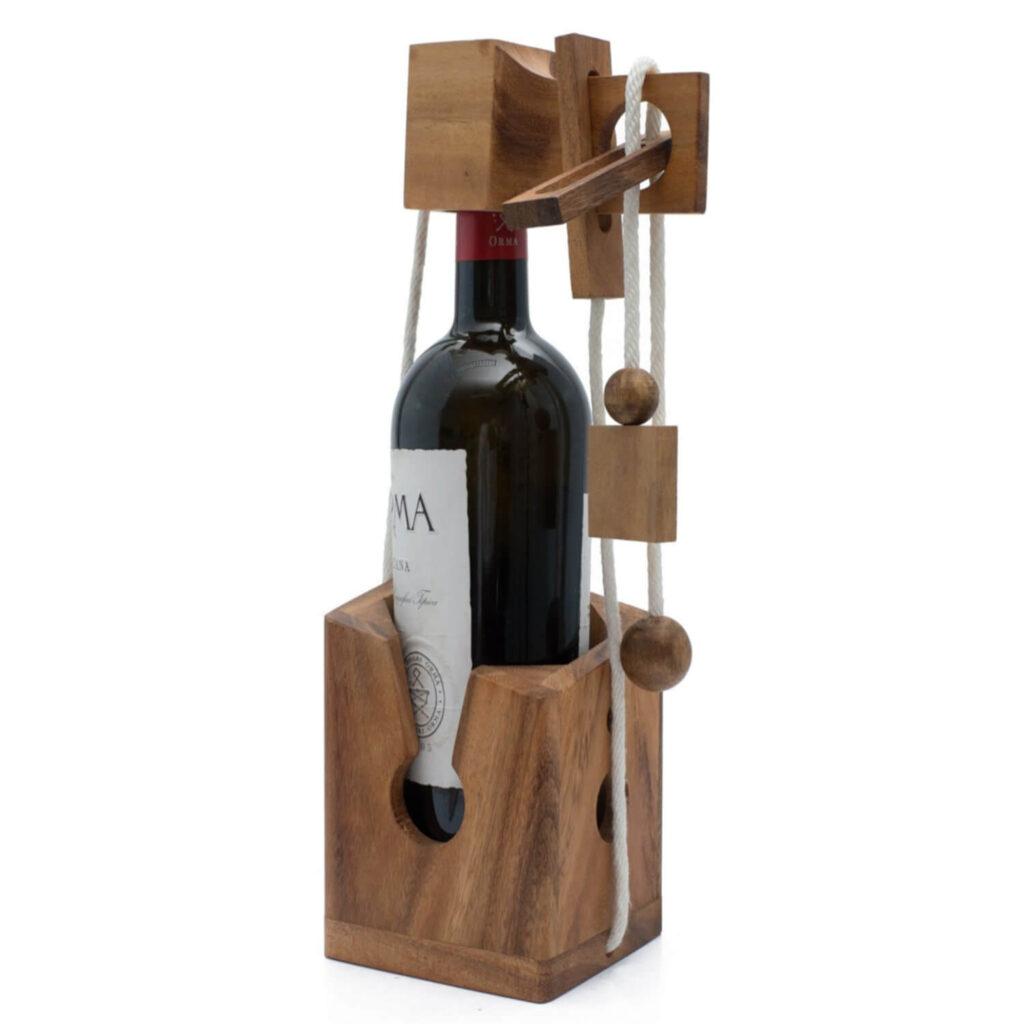 Siam Mandalay Wine Bottle Challenge Wooden Puzzle