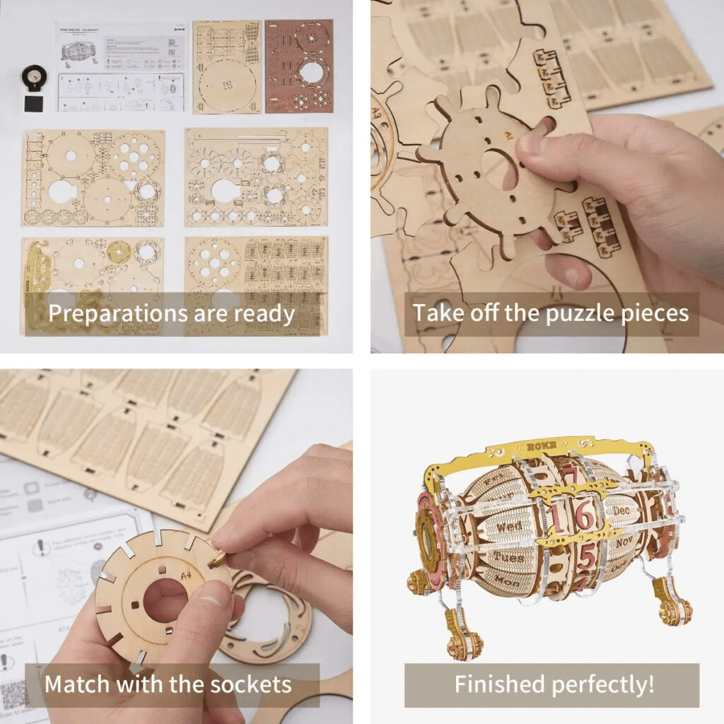 ROKR Wooden 3d Puzzle