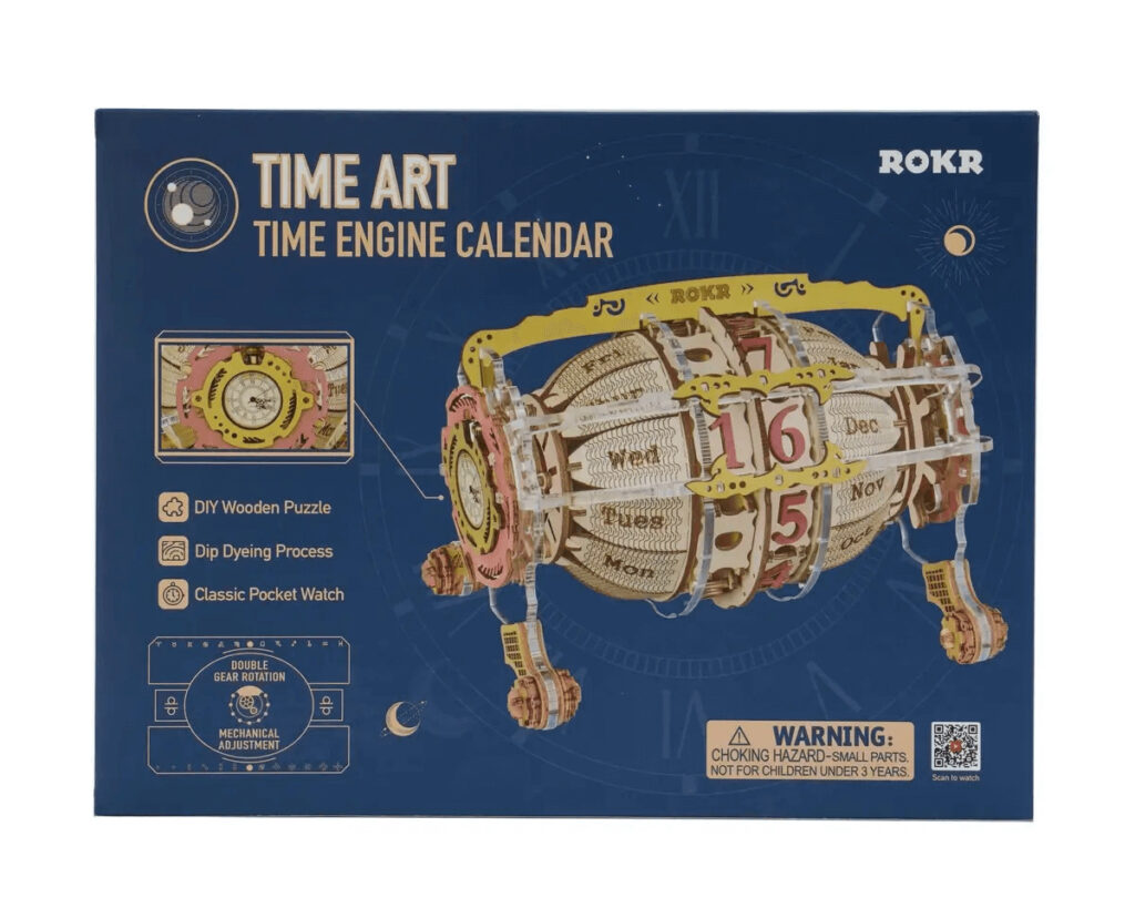 ROKR Wooden 3d Puzzle Time art