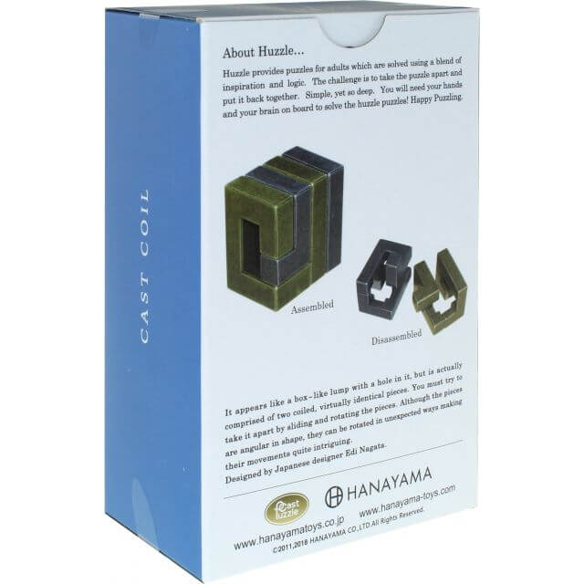 Cast Coil Metal Puzzle by Hanayama Package