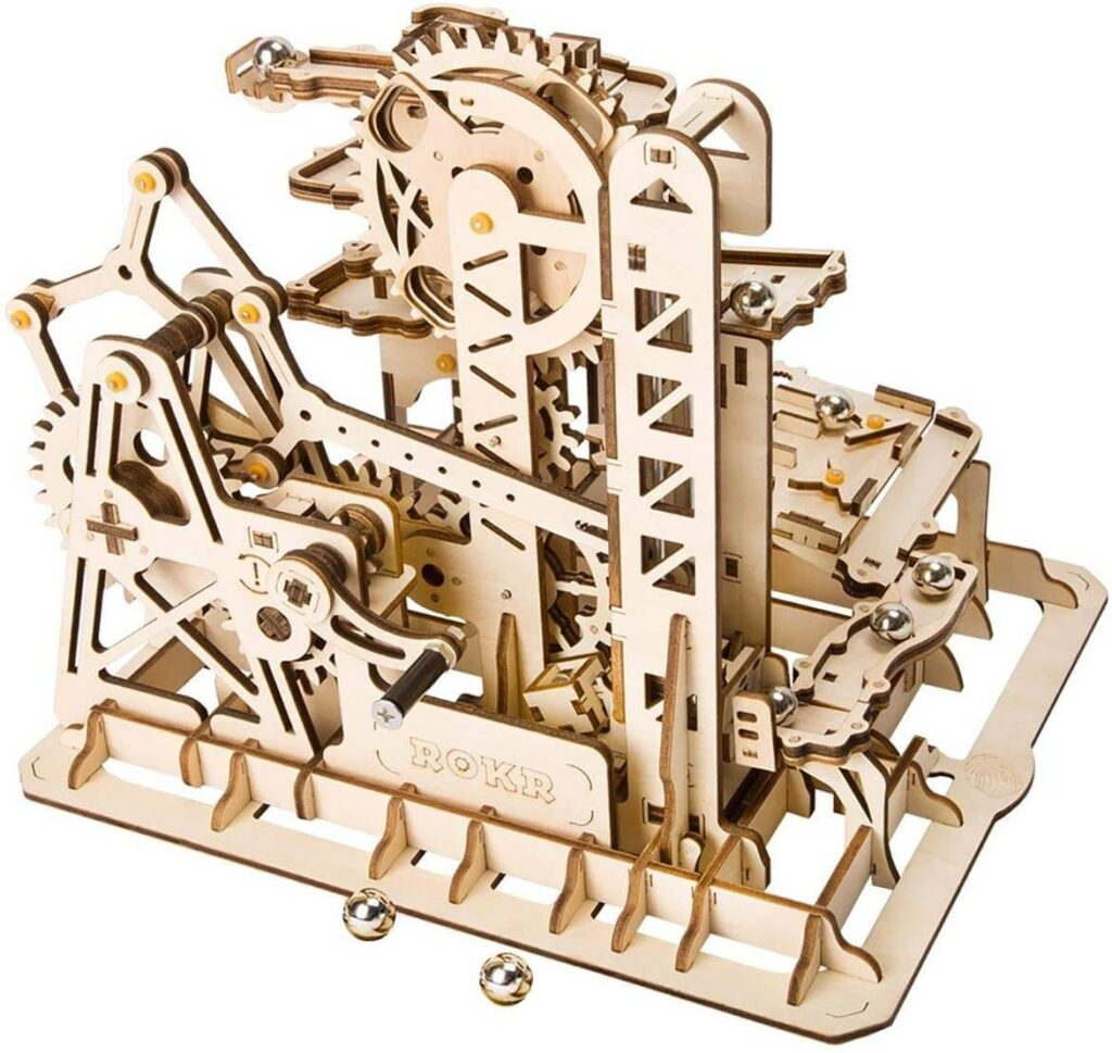 ROKR Marble Climber LG504 (Tower Coaster) Wooden 3D Model