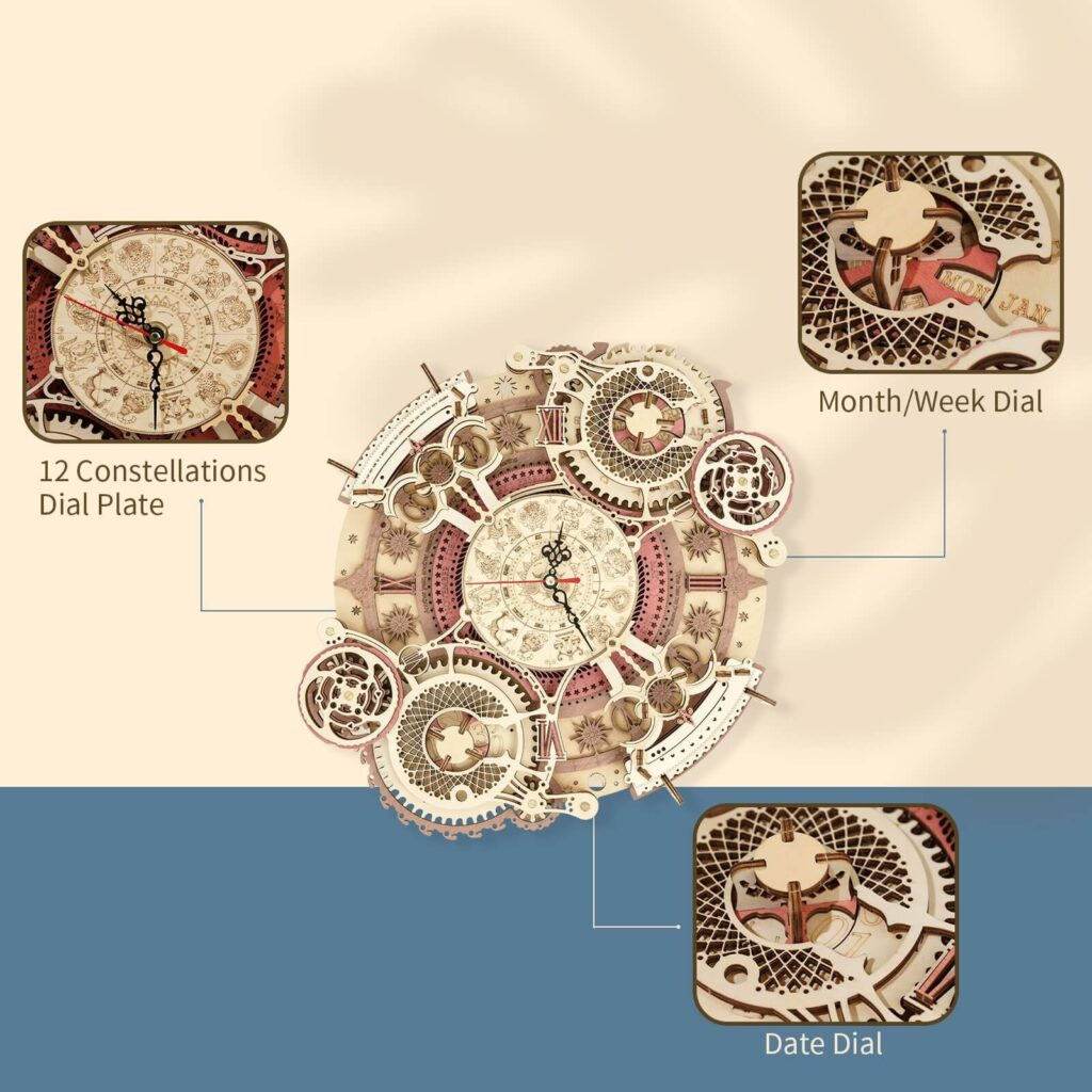 ROKR Zodiac Wall Clock Features