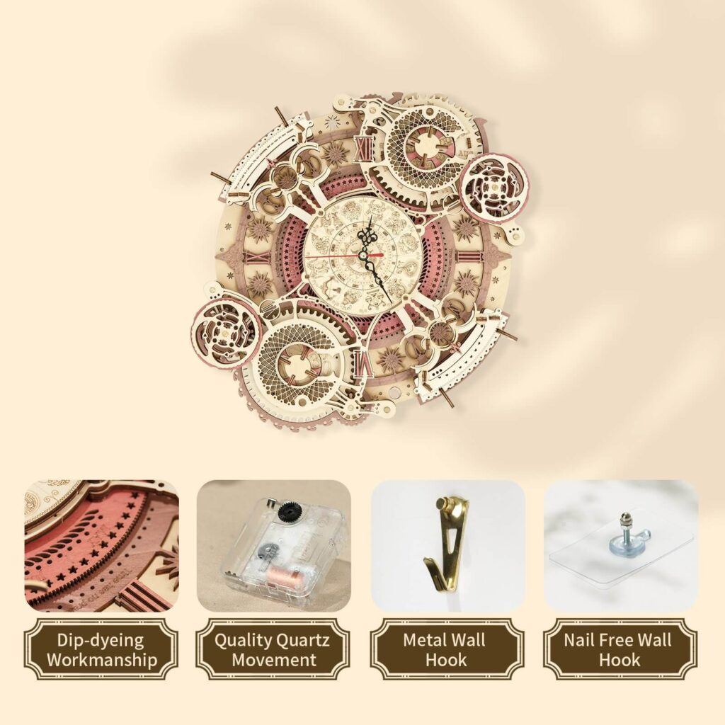 ROKR Zodiac Wall Clock What in the box