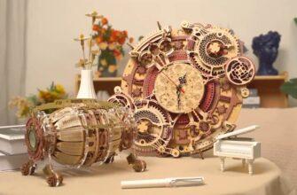 Zodiac Wall Clock by ROKR DIY Wooden Model