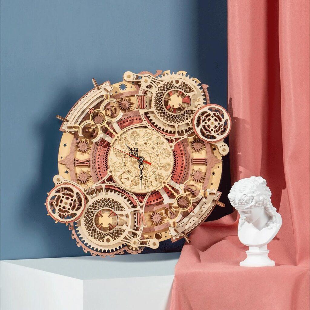 Zodiac Wall Clock by ROKR on the wall