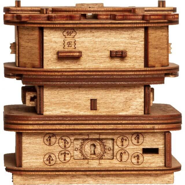 Cluebox Davy Jones Locker Puzzle Box Front View
