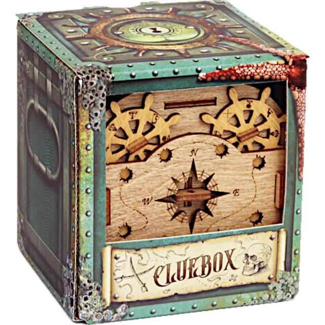 Cluebox Davy Jones Locker Puzzle Box Package