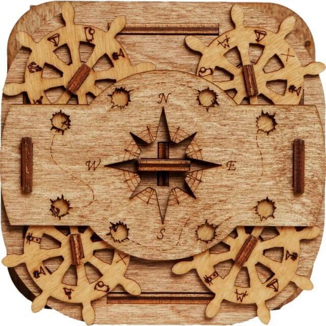 Cluebox Davy Jones Locker Puzzle Box Top View