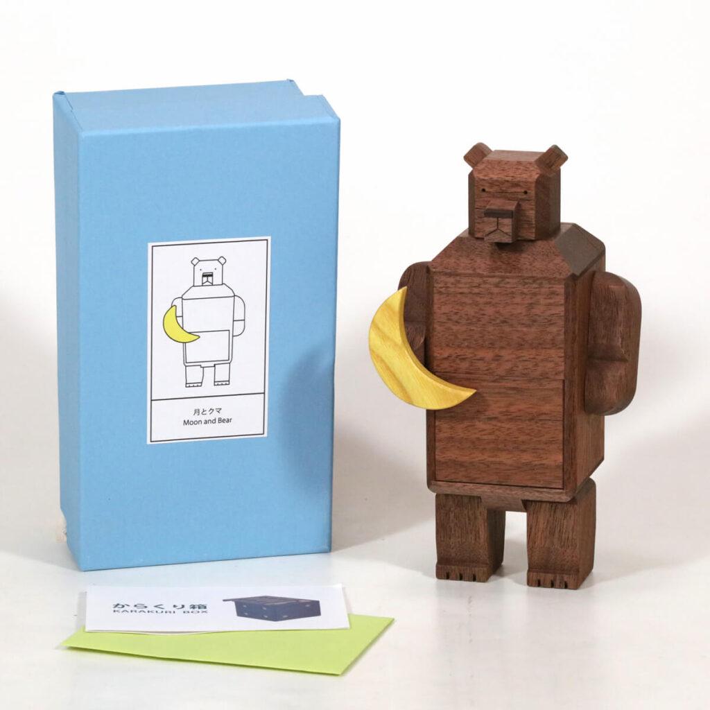 Karakuri Moon and Bear Puzzle Box Box