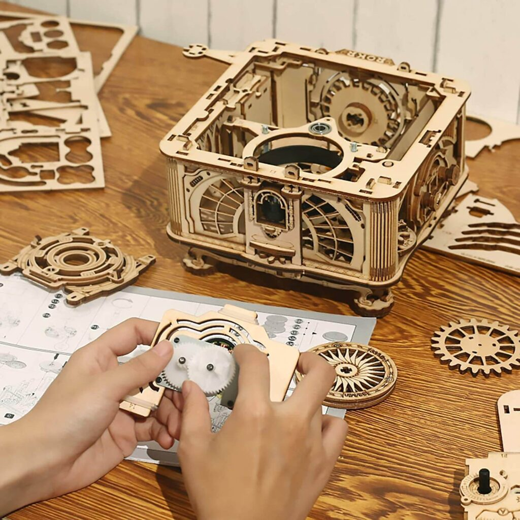 ROKR Gramophone DIY Wooden 3D Puzzles how to assemble