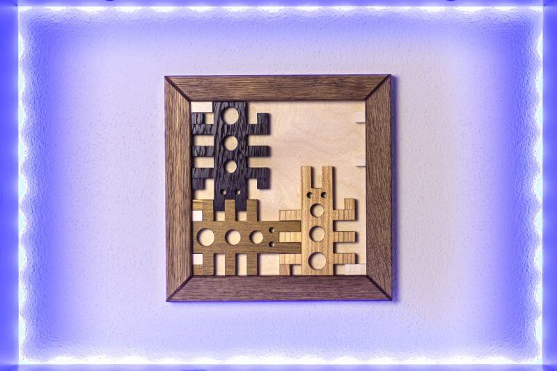Bugs Puzzle by Pelikan Puzzles on the wall